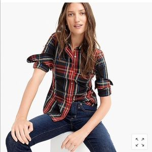 J crew Plaid cotton button down